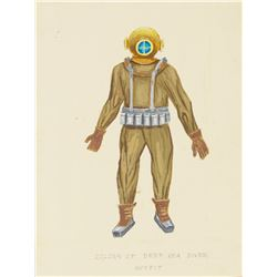 """Submarine Voyage"" Diver Outfit Concept Painting."