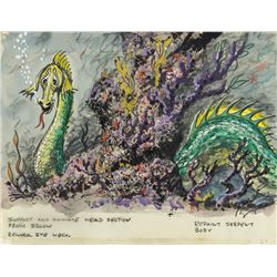 """Submarine Voyage"" Sea Serpent Concept Painting."