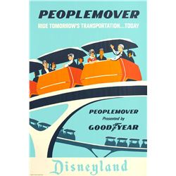 """PeopleMover"" Attraction Poster."