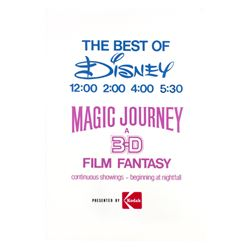 """The Best of Disney"" & ""Magic Journey"" Sign."