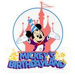 Mickey's Birthdayland  Sign.