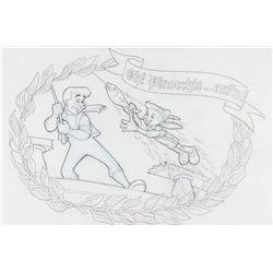 """""""Au Chalet de la Marionnette"""" Pinocchio Mural Artwork."""