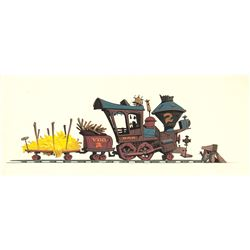 Mickey Mouse Club Steam Engine Concept Painting.