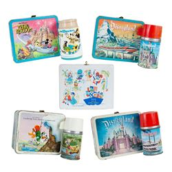 Collection of (5) Disneyland Lunch Boxes.