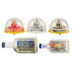 Collection of (5) Disneyland Snow Globes.