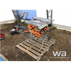 "RIDGID 10"" TABLE SAW"