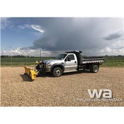 2009 FORD F550 S/A  PLOW TRUCK