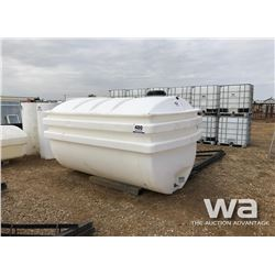1000 GAL. DBL WALL POLY TANK & STAND