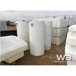 (2) 150 GAL. UPRIGHT POLY TANKS