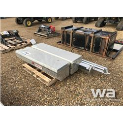 ALUM TOOL BOXES, RUNNING BOARDS