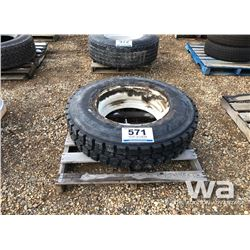 BRIDGESTONE 11R24.5 TIRE & RIM