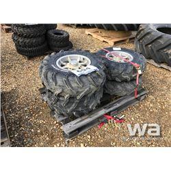 (4) ATV TIRES & RIMS