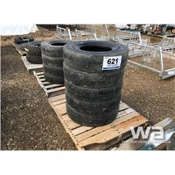 (9) SMOOTH PACKER 7.5-15 TIRES