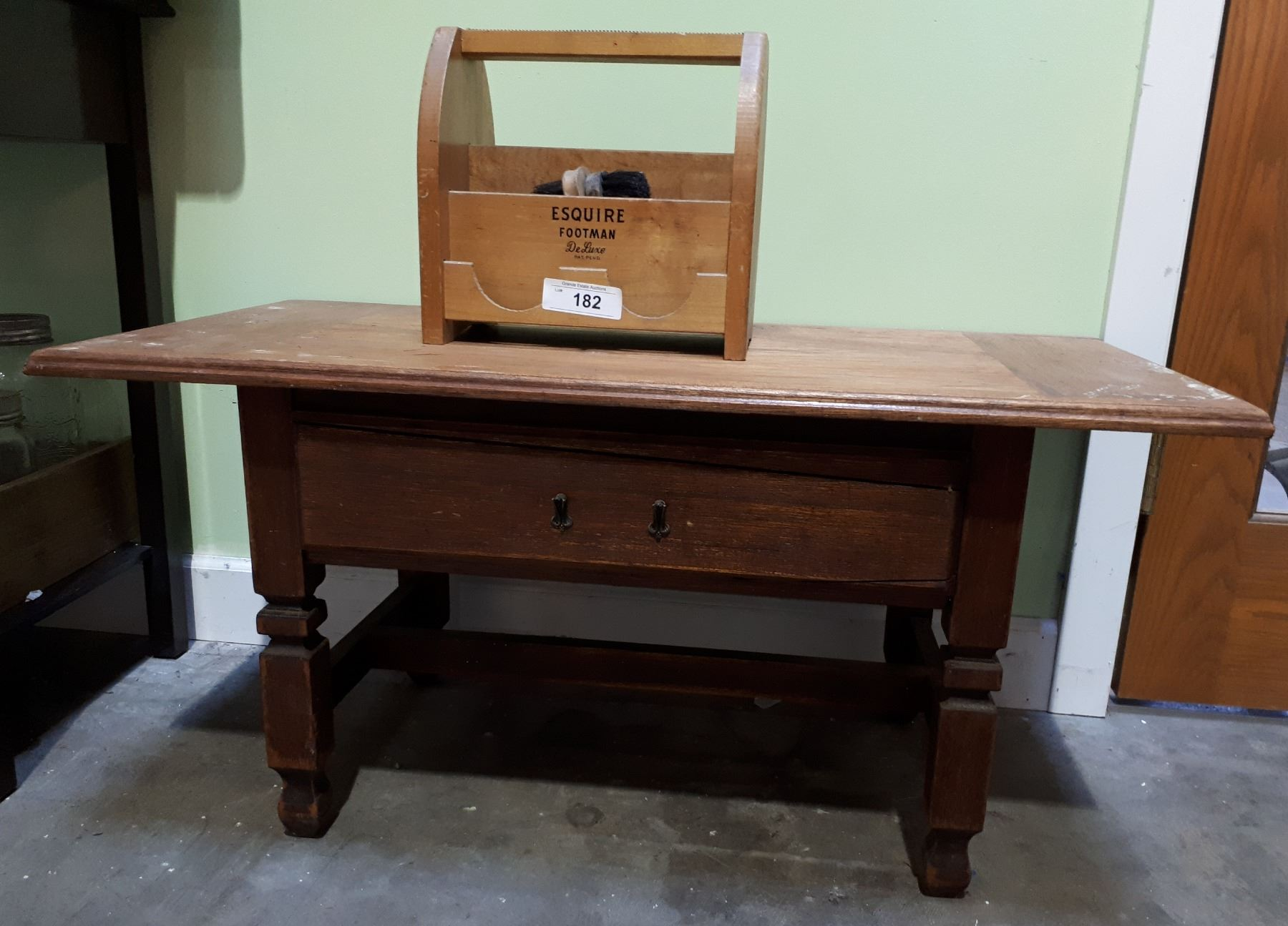 Small Mahogany Coffee Table Wooden Shoe Shine Box