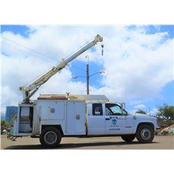 95 GMC Service Truck w/ Maintainer 1115 Crane