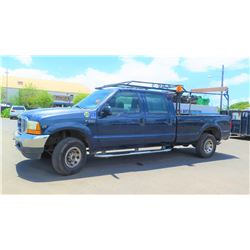 01 Ford F-250 Super Duty Truck -4 Door Pipe Rack Triton V10 Motor