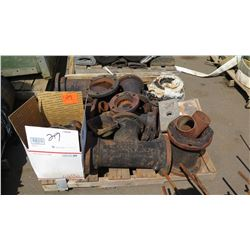 Contents of Pallet -Large Metal Pipe Fittings