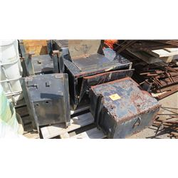 Contents of Pallet- Metal Truck Boxes
