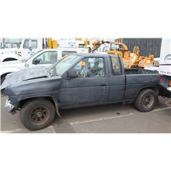 Black Truck Accident Damage