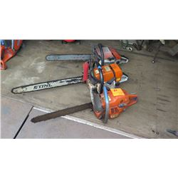 Qty 3 Chainsaw (Parts/Repair)