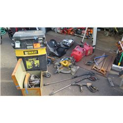 Large Lot -Tools Gas Cans Tool Box Etc (Parts/Repair)