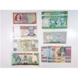 Gambia, Zambia & Sierra Leone. 2001-2006. Quartet of Issued Replacement Notes.