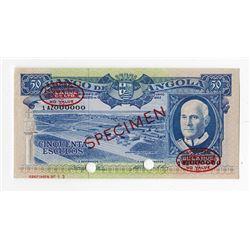 Banco de Angola, 1962 Specimen Banknote.