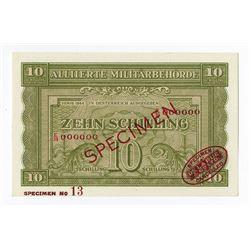 Allierte MilitŠrbehšrde, 1944 Specimen Banknote.