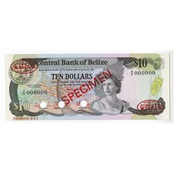 Central Bank of Belize, 1983 Specimen Banknote.