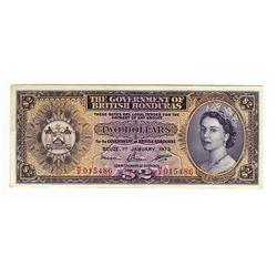 Government of British Honduras, 1973 Issued Banknote.