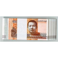 National Bank of Cambodia, 2014, Pack of 100 Banknotes.