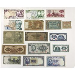 Various Worldwide Issuers, 1906-1970s, Group of 15 Notes