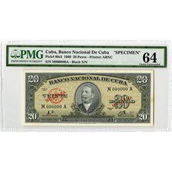 Banco Nacional de Cuba, 1960, Specimen Banknote
