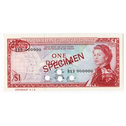 East Caribbean Currency Authority, ND (1965) Specimen Banknote.