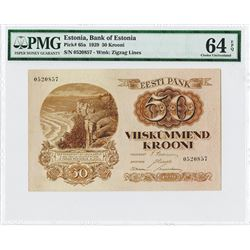 Bank of Estonia, 1929 Issue High Grade Note.