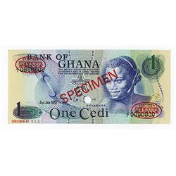 Bank of Ghana, 1973 Specimen Banknote.