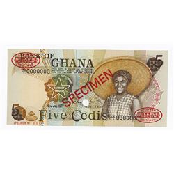 Bank of Ghana, 1977 Specimen Banknote.