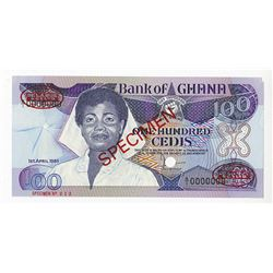 Bank of Ghana, 1983 Specimen Banknote.