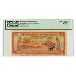 Banco Central De Guatemala 1936 Specimen Banknote.