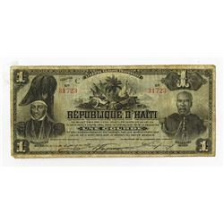 Republique D'Haiti, 1904 Commemorative Issue Banknote.