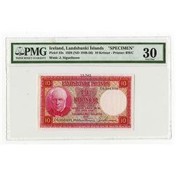 Landsbanki Islands, 1928 (ND 1948-56), Specimen Banknote.