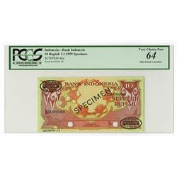 Bank of Indonesia, 1959 Specimen Banknote.