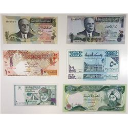 Middle Eastern Replacement Note Assortment, ca.1973-2003.