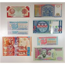 Grouping of C. I. S. Nations Replacement Banknotes.