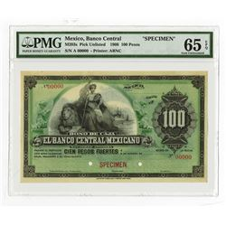 Banco Central Mexicano, ca.1899, 100 Pesos, Specimen Bono De Caja