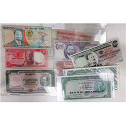 Banco de Mozambique & Others. 1950s-2010s. Group of 34 Issued Notes.