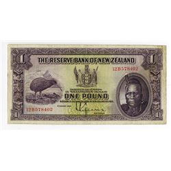Reserve Bank of New Zealand, 1934 Issued Banknote.