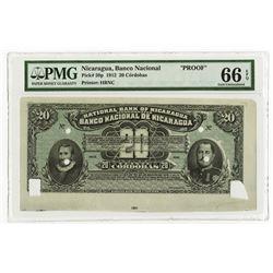 Banco Nacional de Nicaragua, 1912, Proof Banknote