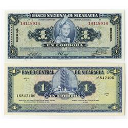 Banco Nacional & Banco Central. 1960-1962. Pair of Issued Notes.