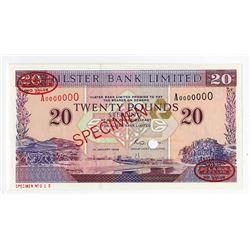 Ulster Bank Limited, 1996 Specimen Banknote.
